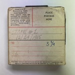 Vint Lawrence Audio Journal #02, 24 December 1965 - Part 1